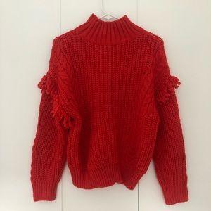 Mango red sweater